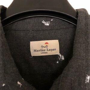 Marine Layer Shirts - Marine Layer Men's Grey button down size larger